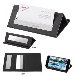 Executive Desk Card Holder/Media Stand