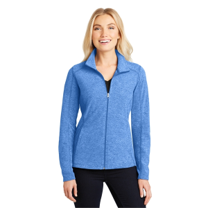 Port Authority® Ladies Heather Microfleece Full-Zip Jacket
