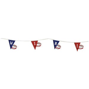"20' Triangle Pennant String 9"" x 12"" - Double Sided"