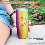 20oz. Rainbow Viking® Nova Tumbler